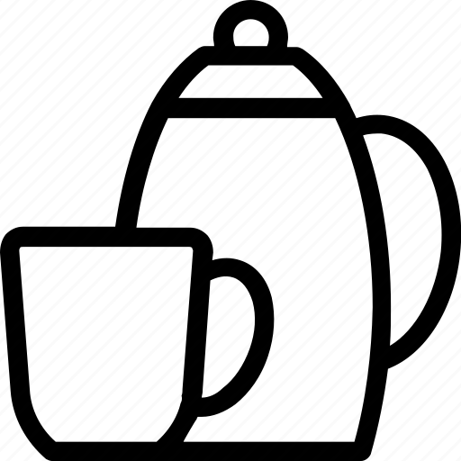 cup, tea kettle, tea pot, tea set, utensil icon