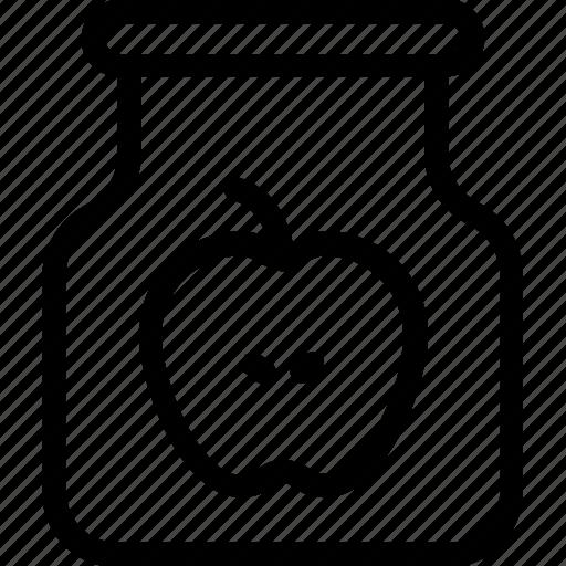 Apple, apple jam, food, fruit, marmalade icon - Download on Iconfinder