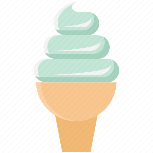 dessert, food, icecream, icecream cone, sweet food icon