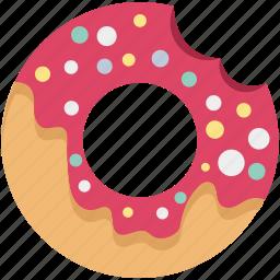bakery, bakery food, breakfast, confectionery, dessert, donut, oughnut icon
