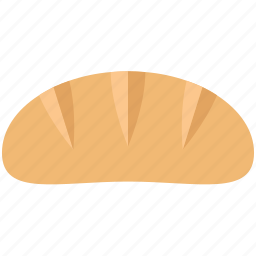 baguette, baking food, bread, bread loaf, breakfast, french baguette, french bread icon