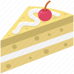 bake food, bakery food, cake, cake piece, cake slice, dessert, sweet icon