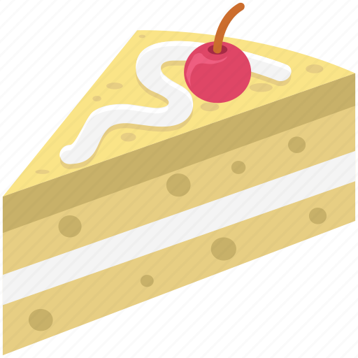 bake food, bakery food, cake, cake piece, cake slice, dessert, sweet icon