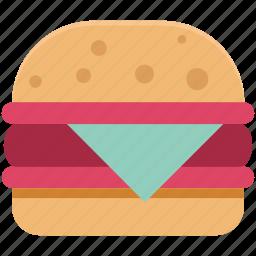 burger, cheeseburger, eating, fast food, food, junk food, snack food icon