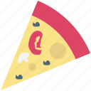 fast food, flatbread, italian food, junk food, pizza, pizza slice, refreshment icon