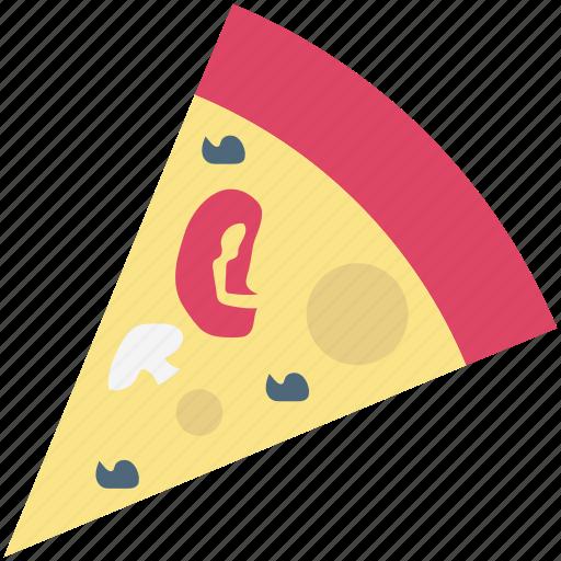 fast food, flatbread, italian food, junk food, pizza, pizza slice, refreshment icon