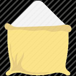cereal sack, flour pack, flour sack, grain, grain bag, grain sack, wheat icon