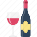 alcohol, beer bottle, bottle, champagne, drink, glass, wine icon