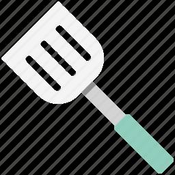 cooking tools, kitchen turner, kitchen utensils, slotted spatula, spatula, turning spatula icon