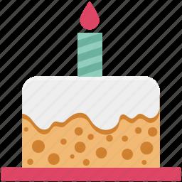 bakery food, birthday cake, cake, delicious cake, dessert, party cake, sweet icon