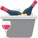 alcohol, alcoholic beverage, alcoholic drink, beverage, drink, glasses, wine icon