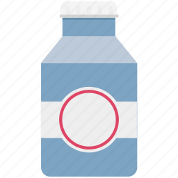 breakfast, calcium, healthy, liquor food, milk, milk container, milk pack icon