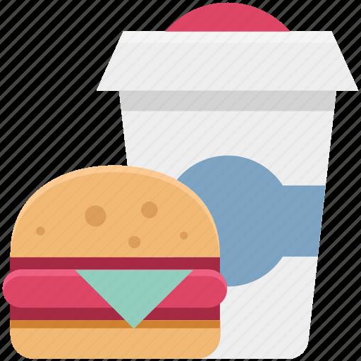 burger, drink, fast food, juice, junk food, sandwich burger, snack food icon