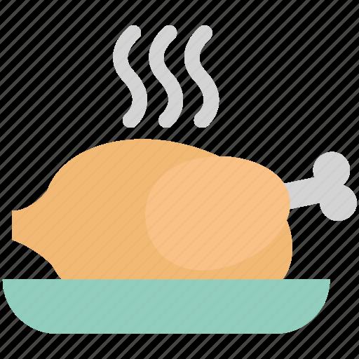 Chicken, food, grilled food, meat, roast, roast chicken, turkey roast icon - Download on Iconfinder