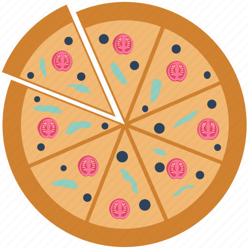 baked food, delicious food, fast food, food, italian food, junk food, pizza icon