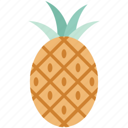 ananas comosus, food, fruit, healthy food, pineapple, raw food, tropical fruit icon
