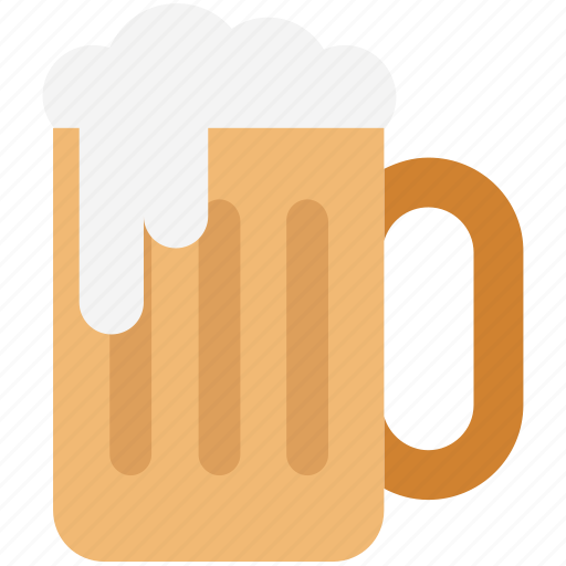 alcohol, beer glass, beer mug, beer pint, beer tankard, chilled beer, pint glass icon