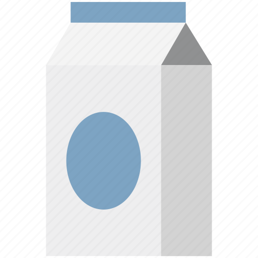 food container, liquid box, milk box, milk carton, milk container, milk pack, packaged food icon