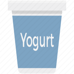 breakfast, dairy, food, milk, quark, yogurt, yogurt cup icon