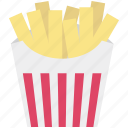 chips, finger chips, french fries, fries, fries box, frites, potato fries icon