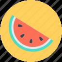 cantaloupe, food, fruit, watermelon, watermelon slice icon
