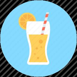 drink, glass, juice, lemonade, water icon