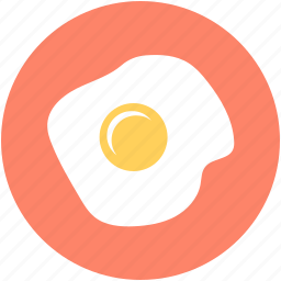 breakfast, cooked egg, dairy food, egg, fried egg icon