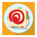 bread slice, dish, sandwich, sauce icon