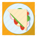 bread slice, dish, sandwich icon