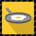 fry pan, half boiled egg icon