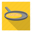 omelette in fry pan icon