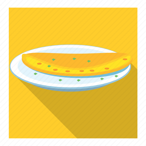 omelette in dish icon