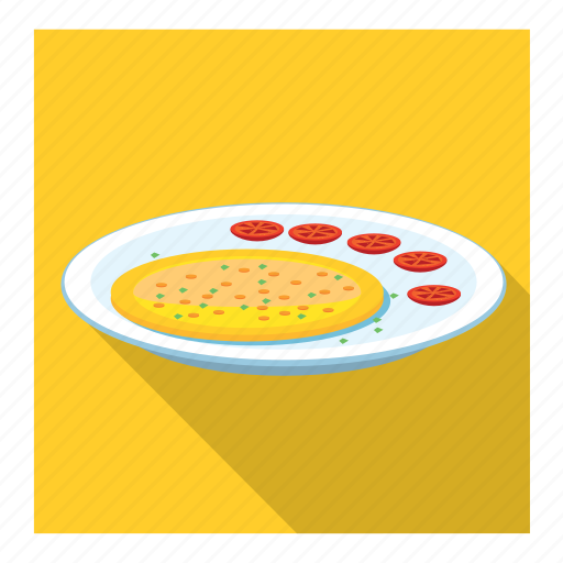 dish, omelette icon