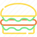 burger, fest food, food, hamburger, junk food icon
