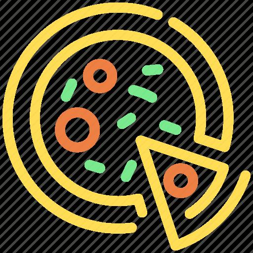 fast food, food, italian, pizza, slice icon