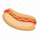 food, hot, dog, hot dog