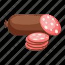 food, sliced, sausage