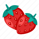 berry, food, strawberry