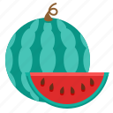 food, piece of watermelon, watermelon icon