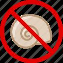 snail, food, allergy, gastronomy, allergen, shelfish icon