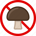 mushroom, food, allergy, gastronomy, allergen, toxic icon