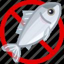meat, food, fish, allergy, gastronomy, allergen icon