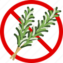gastronomy, food, allergy, herbs, allergen, rosemary icon