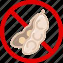 allergen, allergy, food, gastronomy, leguminous, soya, yumminky icon
