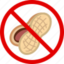 allergen, allergy, food, gastronomy, nut, peanut, yumminky icon