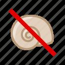 allergen, allergy, food, gastronomy, mollusk, snail, yumminky icon