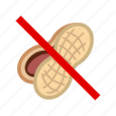 allergen, allergy, food, gastronomy, nut, peanut, yumminky icon