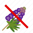 allergen, allergy, food, gastronomy, lupine, plant, yumminky icon