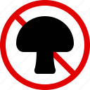 allergen, allergy, cooking, food, mushroom, toxic, yumminky icon