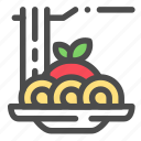 food, italia, noodle, spaghetti icon